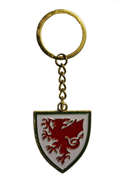 WALES Country Flag Logo Metal KEYCHAIN