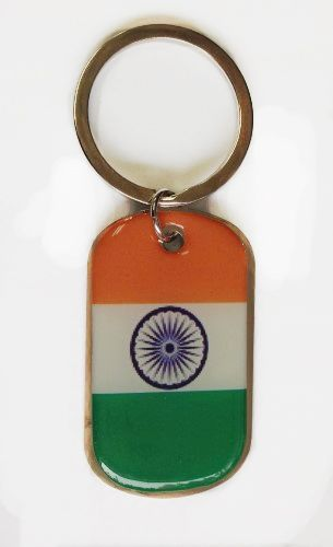INDIA COUNTRY FLAG Dog Tag METAL KEYCHAIN .. NEW