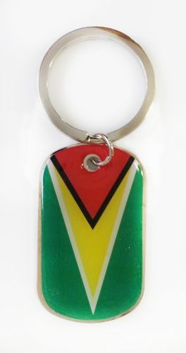 GUYANA COUNTRY FLAG Dog Tag METAL KEYCHAIN .. NEW