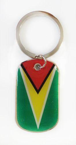 GUYANA COUNTRY FLAG Dog Tag METAL KEYCHAIN .. NEW