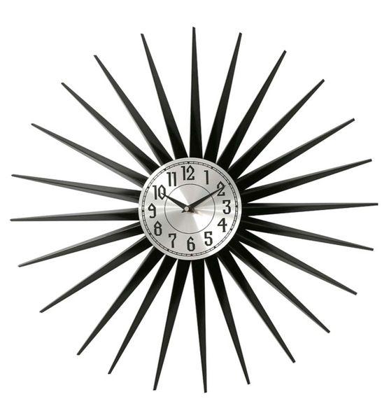 Black Mirrored Clock