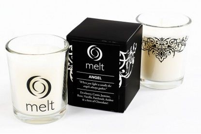 Melt Luxury Room Scenter Candle - Aubergine - Burn Time 22 - 25 Hours