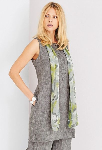 Adini Ciara Linen Tammy Dress Grey