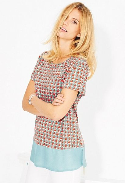 Adini Castillo Print Fort Top Tuscan Orange