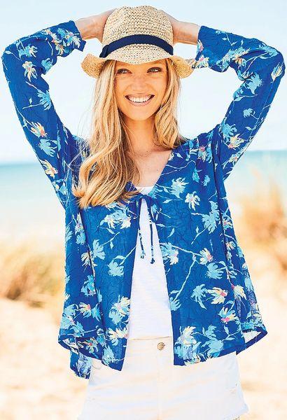 Adini Laurie Kimono Camilla Print Blue