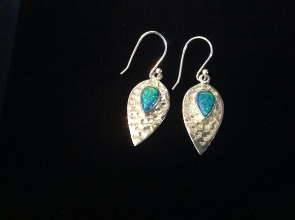 Green Opalite and Silver Earings