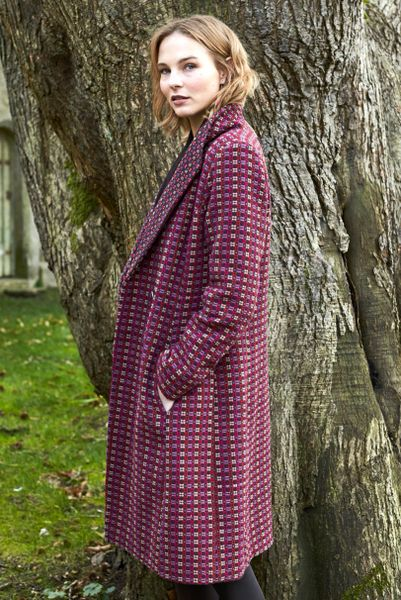 Nomads Shawl Collar Handloom Coat