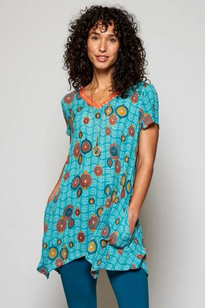 Zanzibar Point Hem Tunic Sea