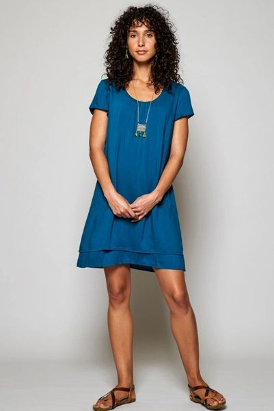 Nomads Zanzibar Double Layer Dress Teal.