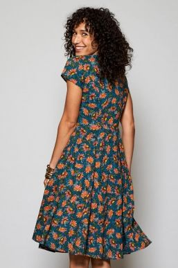 Nomads Fit And Flare Voile Dress.