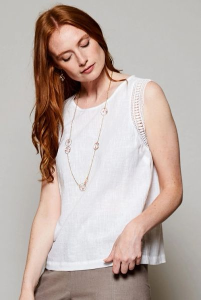 Nomads Crochet Cotton Vest