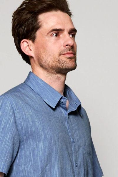 Nomads Short Sleeve Textured Cotton Short Sleeve Shirt.