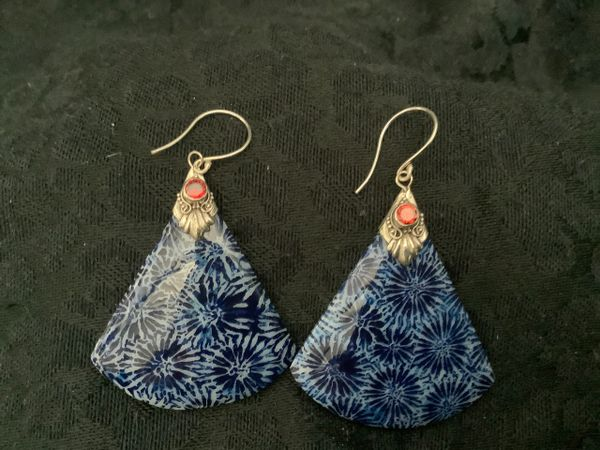 Coralline And Silver Earrings.