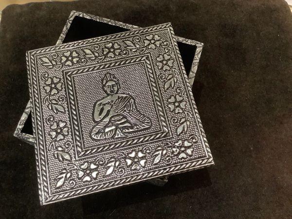 Silver ' Buddha' Box.'