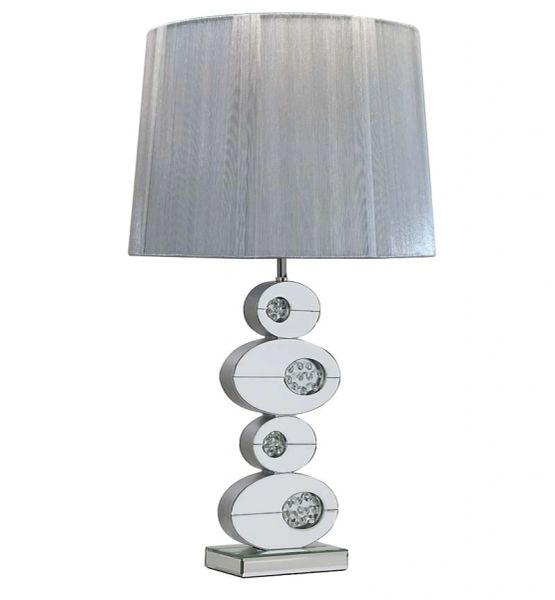 Mirrored Table Lamp Oval Waterfall