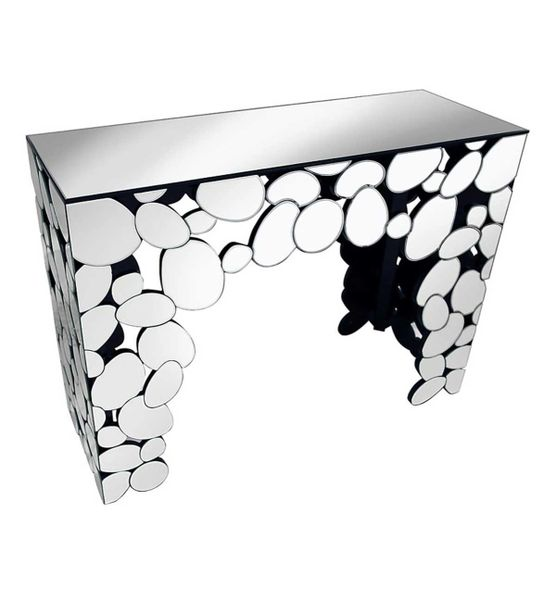 Pebble Mirrored Console Table