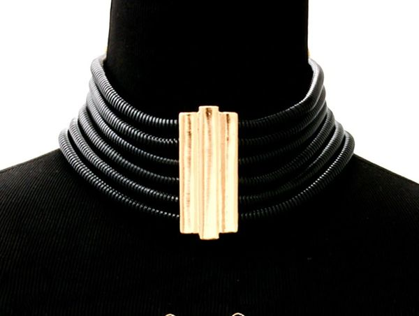 Black Layered Choker w/ Earrings