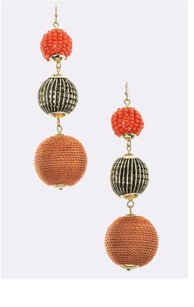 Bubble & Bead Dangle Earrings