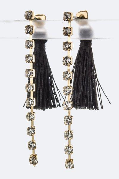 Tassel & Rhinestone Earrings