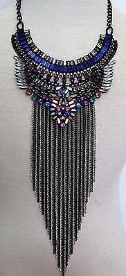 Multicolored Jeweled Cascading Necklace
