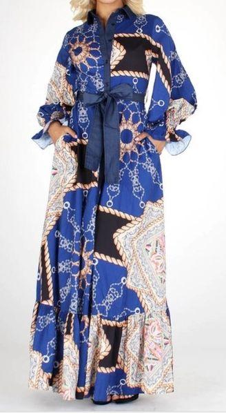 Nautical Goddess Maxi Dress