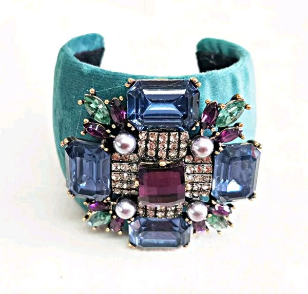 Teal b'Jeweled Bracelet