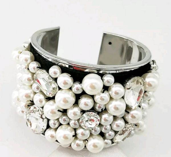 Whirl of Pearls Cuff Bracelet