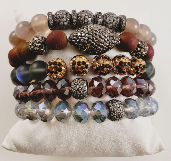 A Bit O Leopard Bracelet Stack