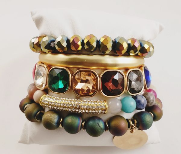 Rainbow Bright Bracelet Stack