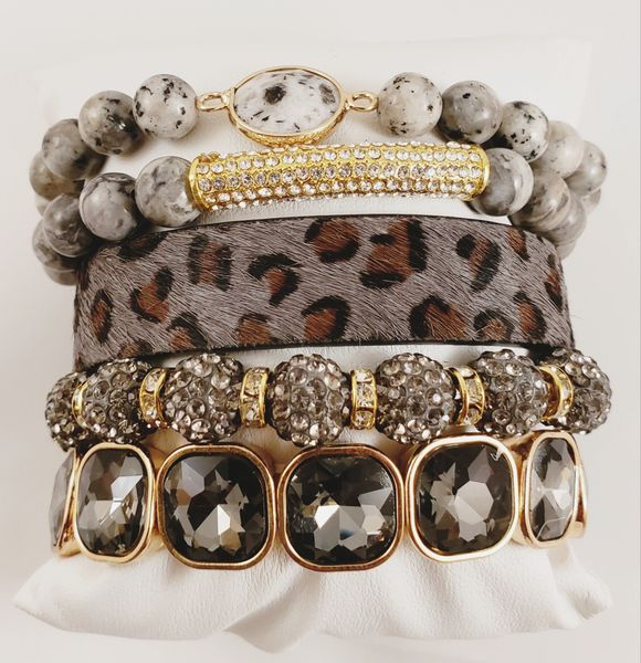 Shady Gray Bracelet Stack