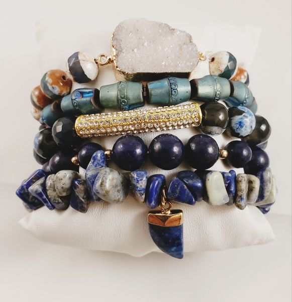 True Blue Bracelet Stack