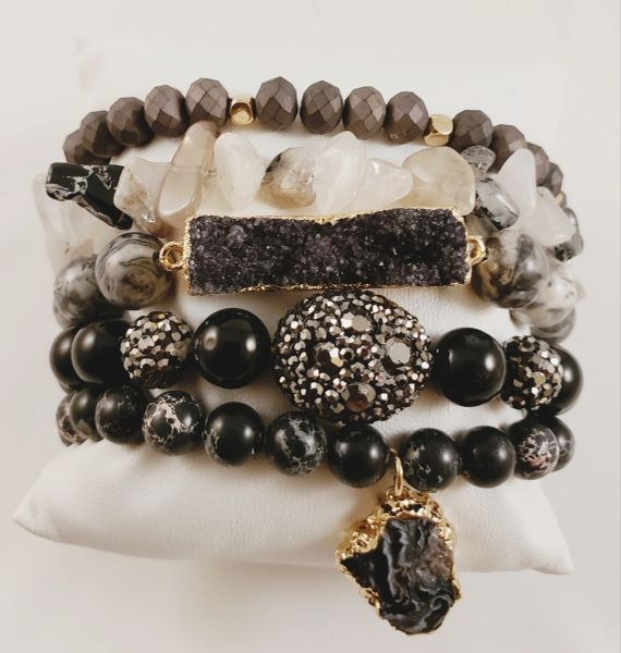 Midnight Moon Bracelet Stack