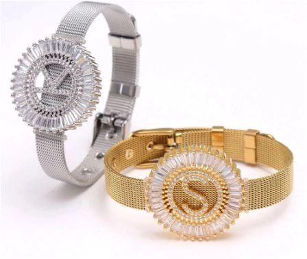 Alpha Bling Bracelet