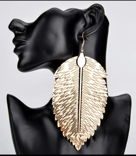 Oversized Leafy Earrings