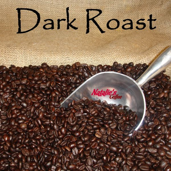 Dark Roast Blend Fresh Roasted Gourmet Coffee 12 oz Bag