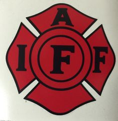 Red and Black IAFF Decal
