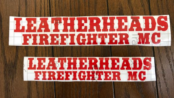 Leatherheads Firefighter MC Decal
