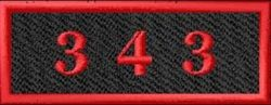 Red and Black 343 Patch