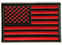 Black and Red Flag Patch