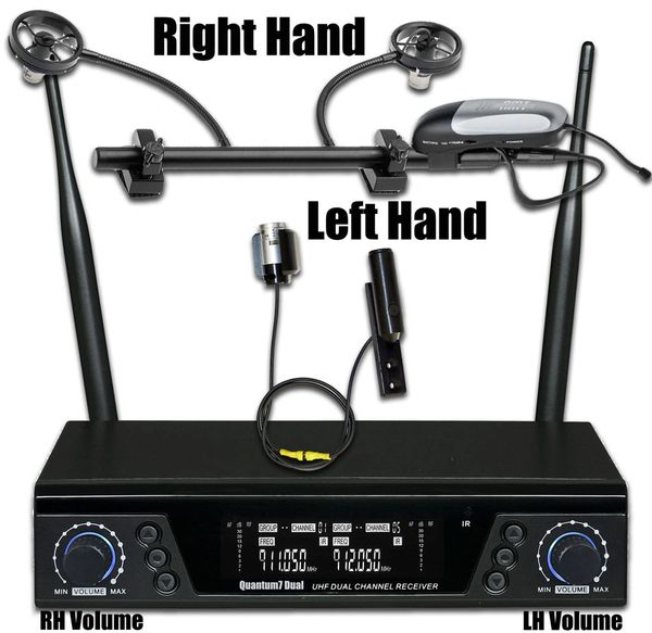 AMT ACCW (Wireless Accordion Microphone System for both Right and Left Hands.)