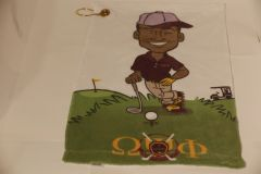 Golf Towel with grommet - Omega Guy