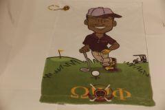 Golf Towel with grommet - Omega Guy