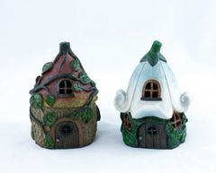 FA55 Decorative Leaf Fairy House with LED Light (6 PCS SET)