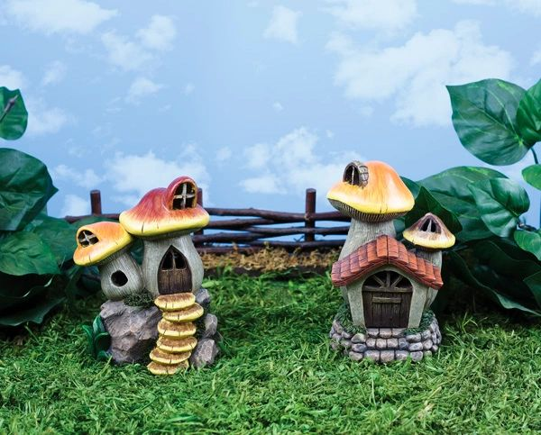 FA89 Sm Mushroom House with LED Light (6 PCS SET)