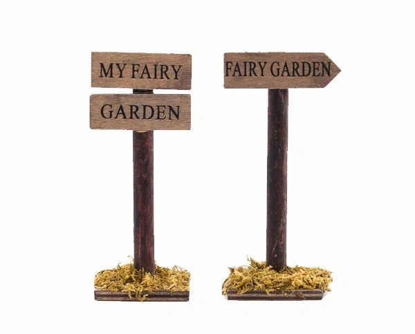 FA62 Fairy Garden Signs (12 PCS SET)