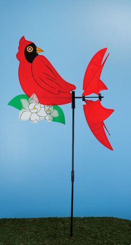 Red Cardinal Wind Spinner (6 PCS SET)
