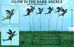 PS115 Glow In The Dark Angel Plant Sticks (12 PCS SET)