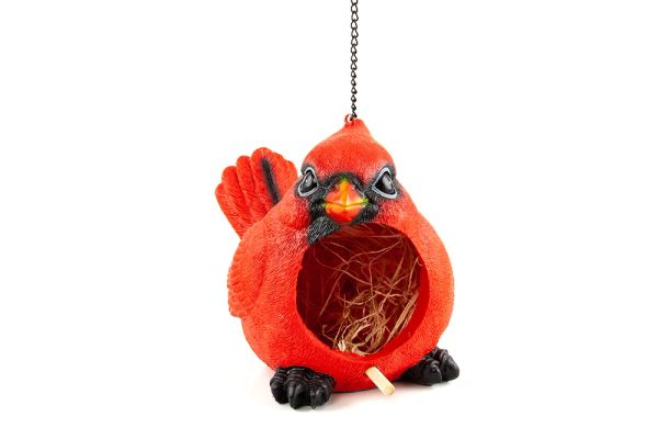 BH229 Red Cardinal Bird House (4 PCS SET)