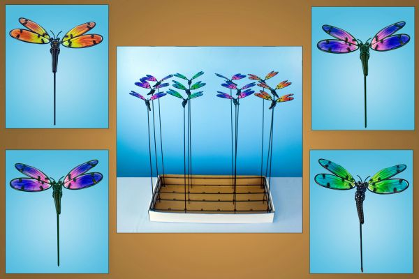 PS129 Dragonflies with Free Display (24 PCS SET)