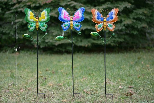 PS131 Metal and Glass Butterfly (6pcs set)